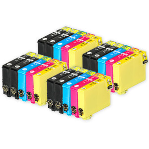 4 Go Inks Set of 4 + extra Black Ink Cartridges to replace Epson 502XL+502XLBk Compatible / non-OEM for Epson WorkForce & Expression Printers (20 Inks)