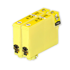 2 Go Inks Yellow Ink Cartridges to replace Epson 502XLY Compatible / non-OEM for Epson WorkForce & Expression Printers