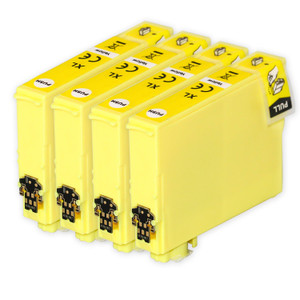 4 Go Inks Yellow Ink Cartridges to replace Epson 502XLY Compatible / non-OEM for Epson WorkForce & Expression Printers
