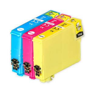 1 Go Inks Set of 3 Ink Cartridges to replace Epson 502XL C/M/Y Compatible / non-OEM for Epson WorkForce & Expression Printers (3 Inks)