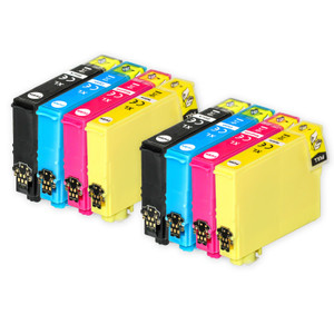 2 Go Inks Set of 4 Ink Cartridges to replace Epson 502XL Compatible / non-OEM for Epson WorkForce & Expression Printers (8 Inks)
