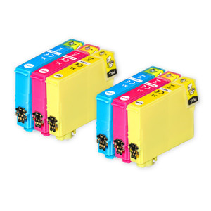 2 Go Inks Set of 3 Ink Cartridges to replace Epson 502XL C/M/Y Compatible / non-OEM for Epson WorkForce & Expression Printers (6 Inks)