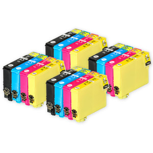4 Go Inks Set of 4 Ink Cartridges to replace Epson 502XL Compatible / non-OEM for Epson WorkForce & Expression Printers (16 Inks)