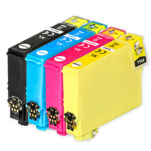 1 Go Inks Set of 4 Ink Cartridges to replace Epson 502XL Compatible / non-OEM for Epson WorkForce & Expression Printers (4 Inks)