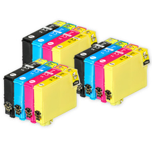 3 Go Inks Set of 4 Ink Cartridges to replace Epson 502XL Compatible / non-OEM for Epson WorkForce & Expression Printers (12 Inks)