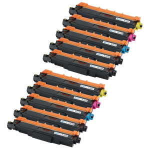 2 Go Inks Set of 4 + extra Black Laser Toner Cartridges to replace Brother TN247 (XL Capacity) Compatible / non-OEM for Brother DCP, MFC & HL Printers