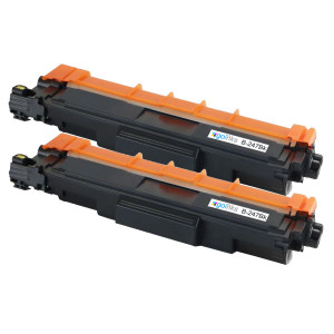 2 Go Inks Black Laser Toner Cartridges to replace Brother TN247Bk (XL Capacity) Compatible / non-OEM for Brother DCP, MFC & HL Printers