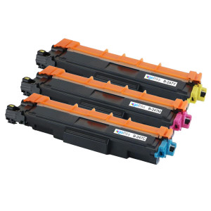 1 Go Inks Set of 3 C/M/Y Laser Toner Cartridges to replace Brother TN247 (XL Capacity) Compatible / non-OEM for Brother DCP, MFC & HL Printers