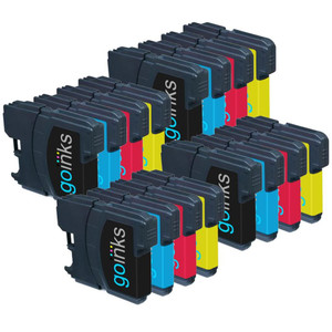 4 Go Inks Set of 4 Cartridges to replace Brother LC980 & LC1100 Compatible / non-OEM for Brother DCP & MFC Printers (16 Inks)