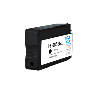 1 Go Inks Black Compatible Printer Ink Cartridge to replace HP 953Bk (XL Capacity) Compatible / non-OEM for HP Photosmart Printers