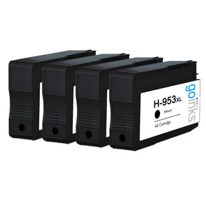 4 Go Inks Black Compatible Printer Ink Cartridges to replace HP 953Bk (XL Capacity) Compatible / non-OEM for HP Photosmart Printers