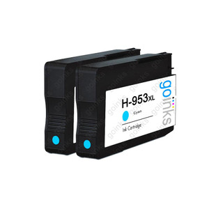 2 Go Inks Cyan Compatible Printer Ink Cartridges to replace HP 953C (XL Capacity) Compatible / non-OEM for HP Photosmart Printers