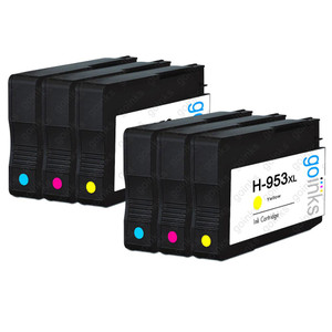 2 Go Inks Compatible C/M/Y Sets to replace HP 953 Colour Printer Ink Cartridges (6 Inks) - Cyan, Magenta, Yellow Compatible / non-OEM for HP Photosmart Printers