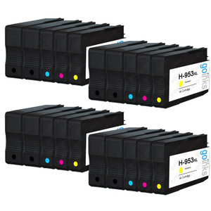 4 Go Inks Compatible Set of 4 + Extra Black to replace HP 953 Printer Ink Cartridge (20 Inks) - Black, Cyan,  Magenta, Yellow Compatible / non-OEM for HP Photosmart Printers