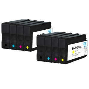 2 Go Inks Compatible Set of 4 to replace HP 953 Printer Ink Cartridge (8 Inks) - Black, Cyan,  Magenta, Yellow Compatible / non-OEM for HP Photosmart Printers