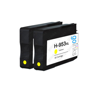 2 Go Inks Yellow Compatible Printer Ink Cartridges to replace HP 953Y (XL Capacity) Compatible / non-OEM for HP Photosmart Printers