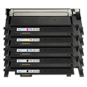 1 Go Inks Set of 4 + Extra Black Laser Toner Cartridges to replace HP W2070A, W2071A, W2072A, W2073A (117a) Compatible / non-OEM for HP Colour Laser Printers