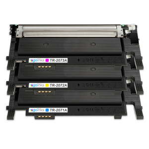 1 Go Inks Set of 3 C/M/Y Laser Toner Cartridges to replace HP W2071A, W2072A, W2073A (117a) Compatible / non-OEM for HP Colour Laser Printers