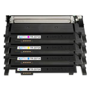1 Go Inks Set of 4 Laser Toner Cartridges to replace HP W2070A, W2071A, W2072A, W2073A (117a) Compatible / non-OEM for HP Colour Laser Printers