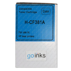 1 Go Inks Cyan Laser Toner Cartridge to replace HP CF381A Compatible / non-OEM for HP Colour & Pro Laserjet Printers