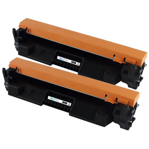 2 Go Inks Black Laser Toner Cartridges to replace HP CF217A (17A) Compatible/non-OEM for HP Laserjet Pro Printers