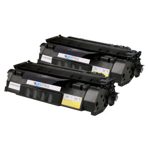 2 Go Inks Black Compatible Toner Cartridges replaces HP CE505A (05A) Series *New Patented Design*