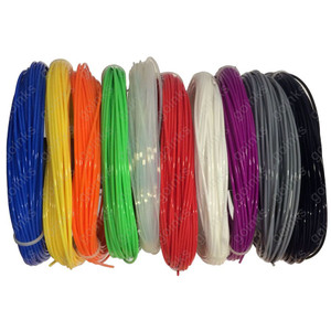 Go Inks 2M  Rainbow Samples Pack of 3D Printer Filament - 10 Colours - PLA - 1.75mm