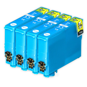 4 Go Inks Cyan Ink Cartridges to replace Epson T1302 Compatible / non-OEM for Epson Stlyus & Workforce Printers