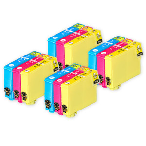 4 Go Inks Set of 3 Ink Cartridges to replace Epson T1306 C/M/Y Compatible / non-OEM for Epson Stlyus & Workforce Printers (12 Inks)