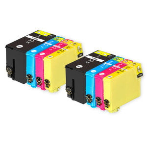 2 Go Inks Set of 4 Ink Cartridges to replace Epson T1306 Compatible / non-OEM for Epson Stlyus & Workforce Printers (8 Inks)