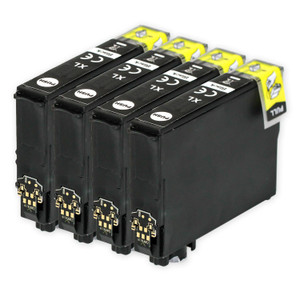 4 Go Inks Black Ink Cartridges to replace Epson T2991 (29XL Series) Compatible / non-OEM for Epson Expression Home Printers
