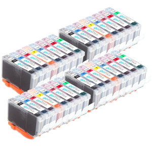 4 Go Inks Set of 8 Ink Cartridges to replace Canon CLI-8 Compatible / non-OEM for PIXMA Printers (32 Pack)