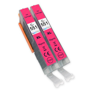 2 Go Inks Magenta Ink Cartridges to replace Canon CLI-551M Compatible / non-OEM for PIXMA Printers