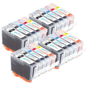 4 Go Inks Set of 5 Ink Cartridges to replace Canon PGI-5 & CLI-8 Compatible / non-OEM for PIXMA & Pixus Printers (20 Pack)