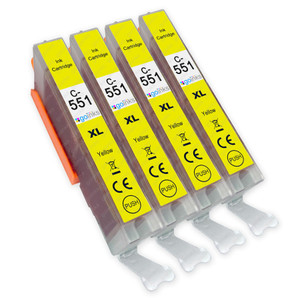 4 Go Inks Yellow Ink Cartridges to replace Canon CLI-551Y Compatible / non-OEM for PIXMA Printers