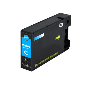 1 Go Inks Cyan Ink Cartridge to replace Canon PGI-1500XLC Compatible / non-OEM for PIXMA Printers