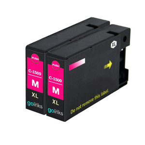 2 Go Inks Magenta Ink Cartridges to replace Canon PGI-1500XLM Compatible / non-OEM for PIXMA Printers
