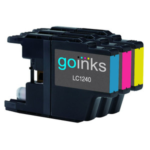 1 Go Inks Set of 3 C/M/Y Ink Cartridges to replace Brother LC1240 & LC1220 Compatible / non-OEM for Brother DCP & MFC Printers (3 Inks)