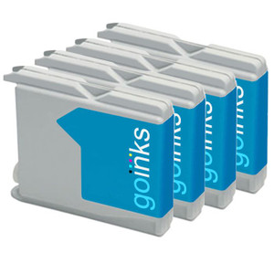 4 Go Inks Cyan Ink Cartridges to replace Brother LC970C & LC1000C Compatible / non-OEM for Brother DCP, MFC & FAX Printers