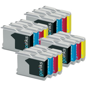 4 Go Inks Set of 4 Ink Cartridges to replace Brother LC970 & LC1000 Compatible / non-OEM for Brother DCP, MFC, FAX Printers (16 Inks)