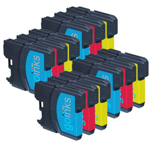 4 Go Inks Set of 3 C/M/Y Ink Cartridges to replace Brother LC980 & LC1100 Compatible / non-OEM for Brother DCP & MFC Printers (12 Inks)