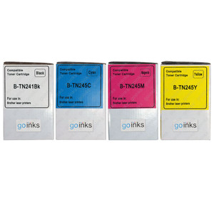 1 Go Inks Set of 4 Laser Toner cartridges to replace Brother TN245 Compatible / non-OEM for Brother DCP, MFC & HL Printers