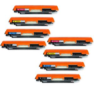 2 Go Inks Set of 4 Laser Toner Cartridges to replace HP CE310A / CE311A / CE312A / CE313A Compatible / non-OEM for HP Colour & Pro Laserjet Printers