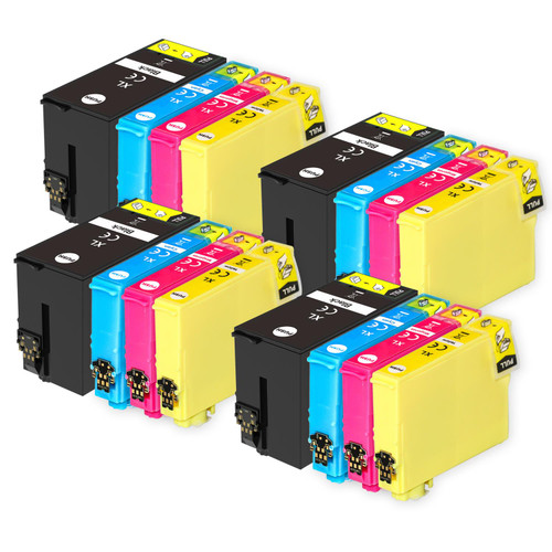 4 Go Inks Set of 4 Ink Cartridges to replace Epson T1306 Compatible / non-OEM for Epson Stlyus & Workforce Printers (16 Inks)
