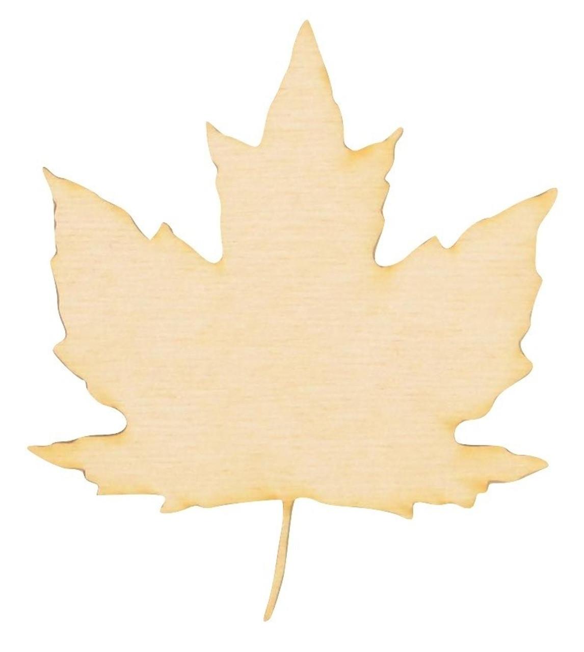 8 Inch Handmade Maple Leaf White