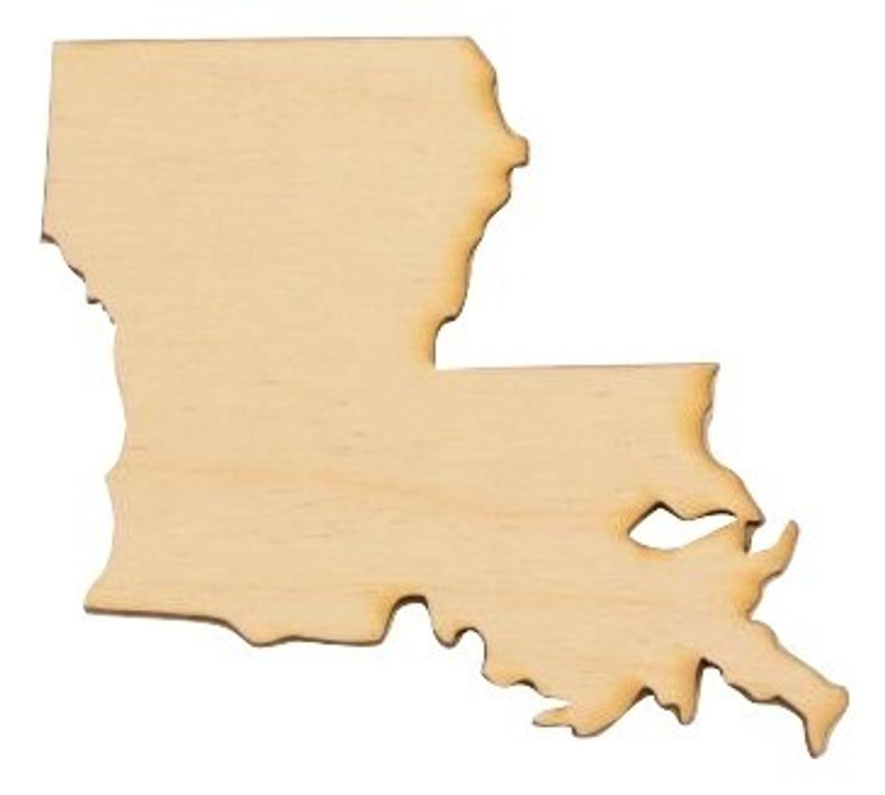 Louisiana State Cutout