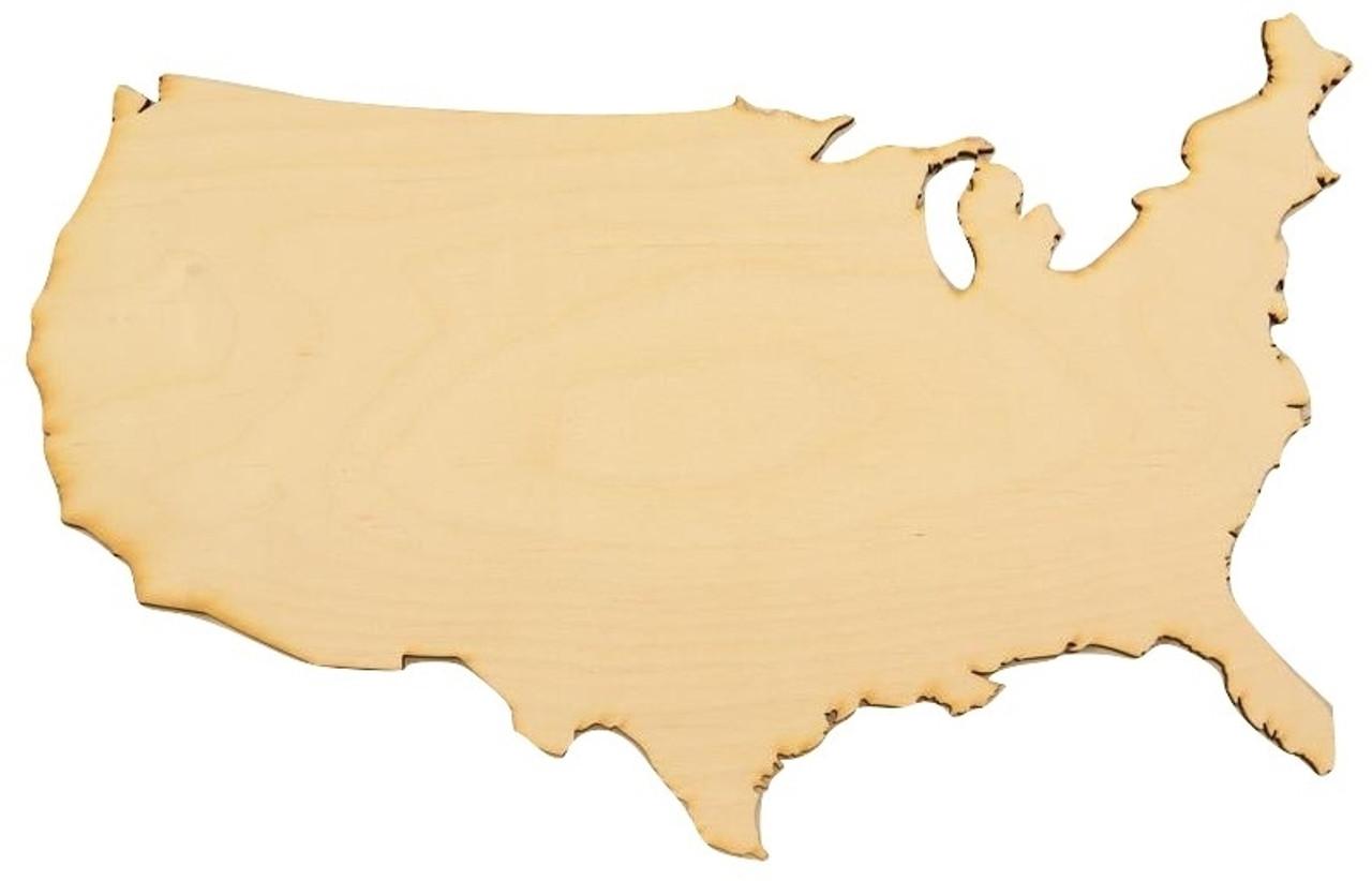 Wood United States Map.United States Wood Map Cutout Wooden Usa Cutout