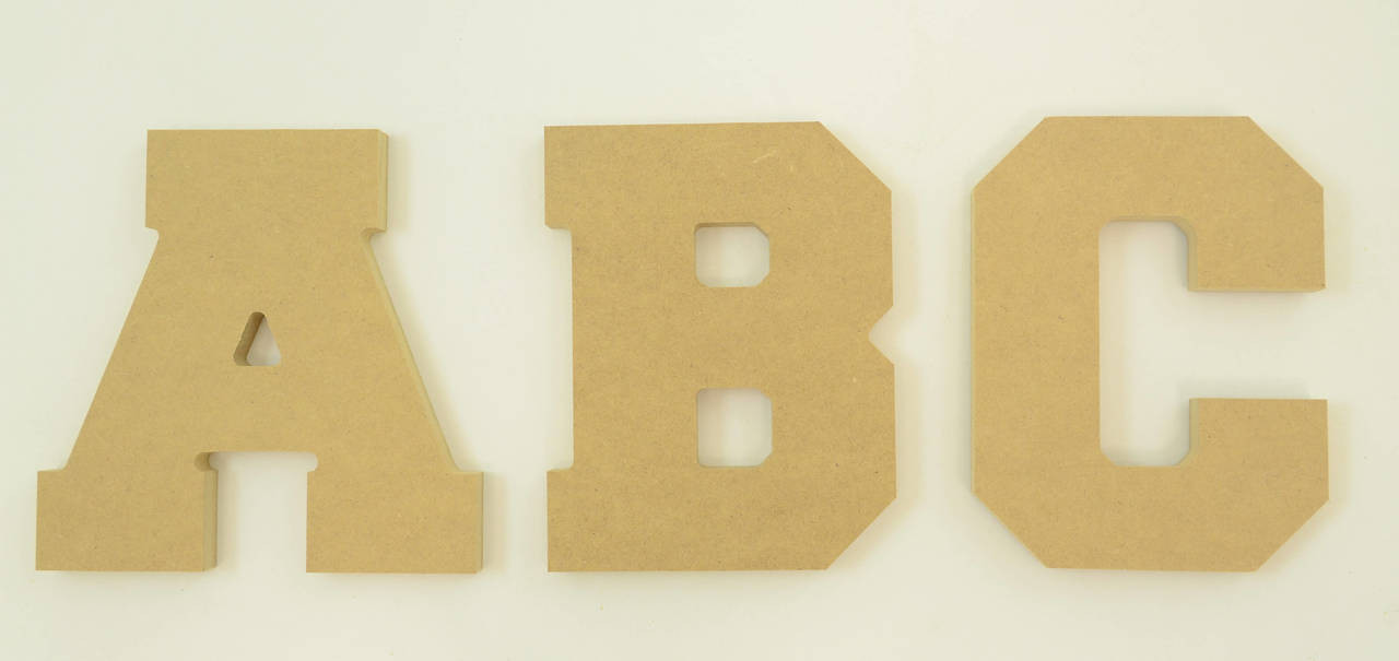 MDF Letters in the Collegiate Font | Thick