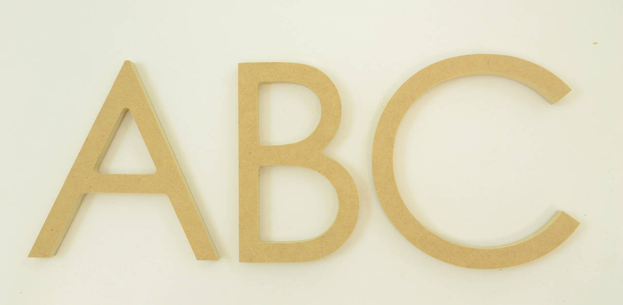 MDF Letters in the Century Gothic Font | Thick | Upper Case