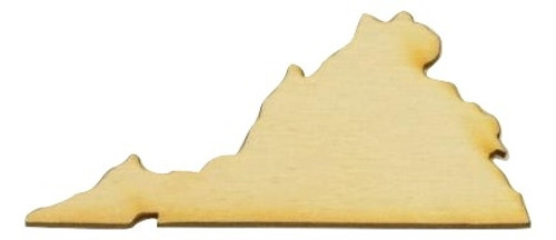 Woodcraft Crafts West Virginia Laser Cut Out Wood Shape Craft Supply